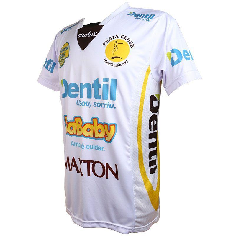 Camiseta Dentil/Praia Clube 2019/2020 – Branca – Com Mangas Unissex