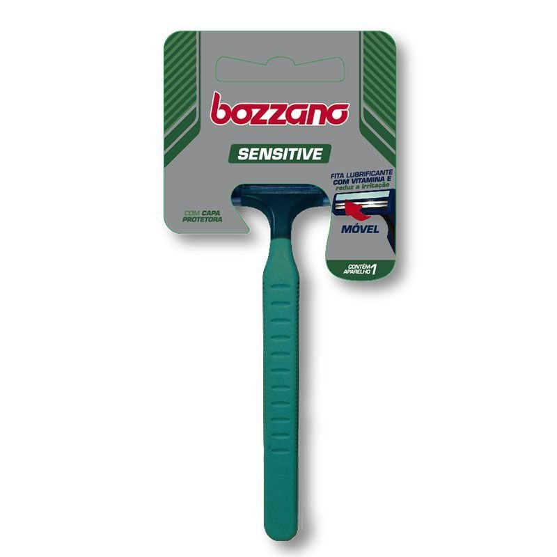 Aparelho de Barbear Bozzano Sensitive 2 Lâminas (Cabo Ergonômico)