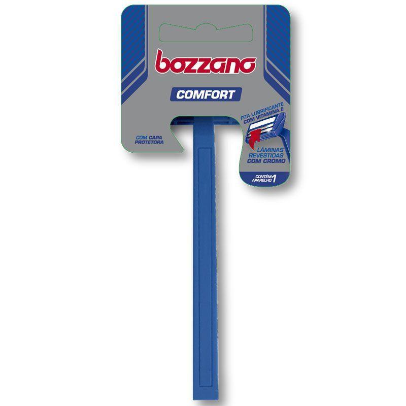 Aparelho de Barbear Bozzano Confort 2 Lâminas ( Cabo Ergonômico )