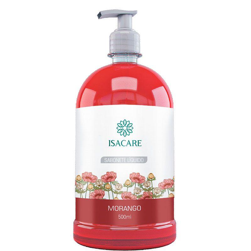 Sabonete Líquido Isacare Morango 500ml ( Produto é Biodegradável )