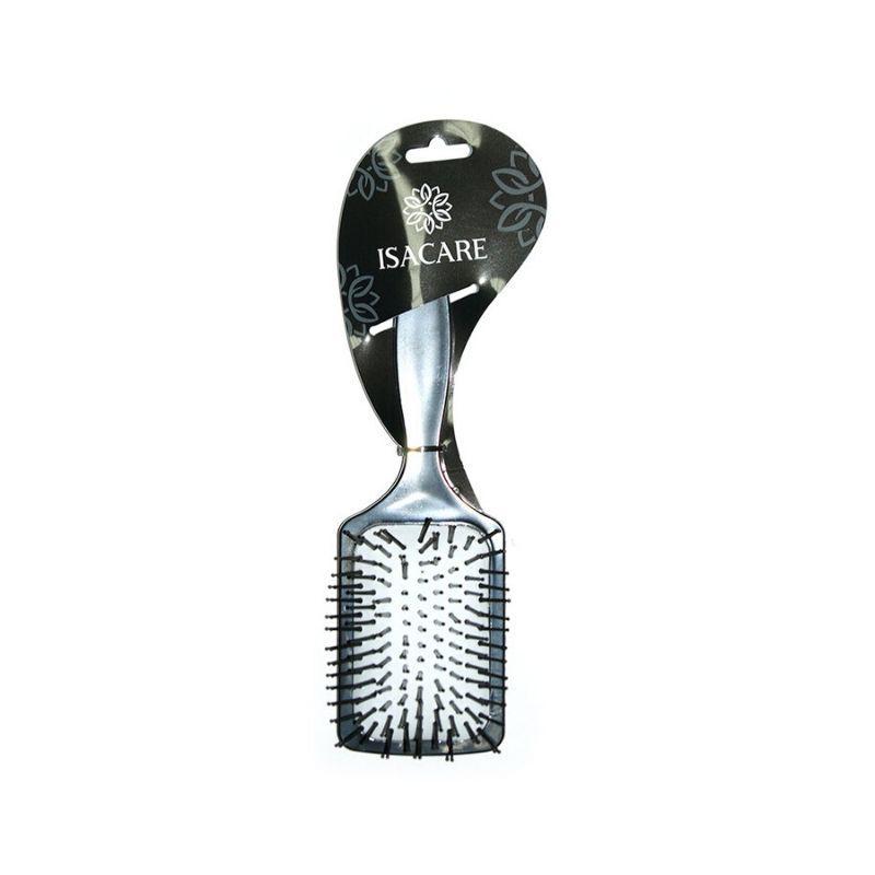 Escova Isacare Magic Black & White Quadrada (Corpo em plástico ABS)