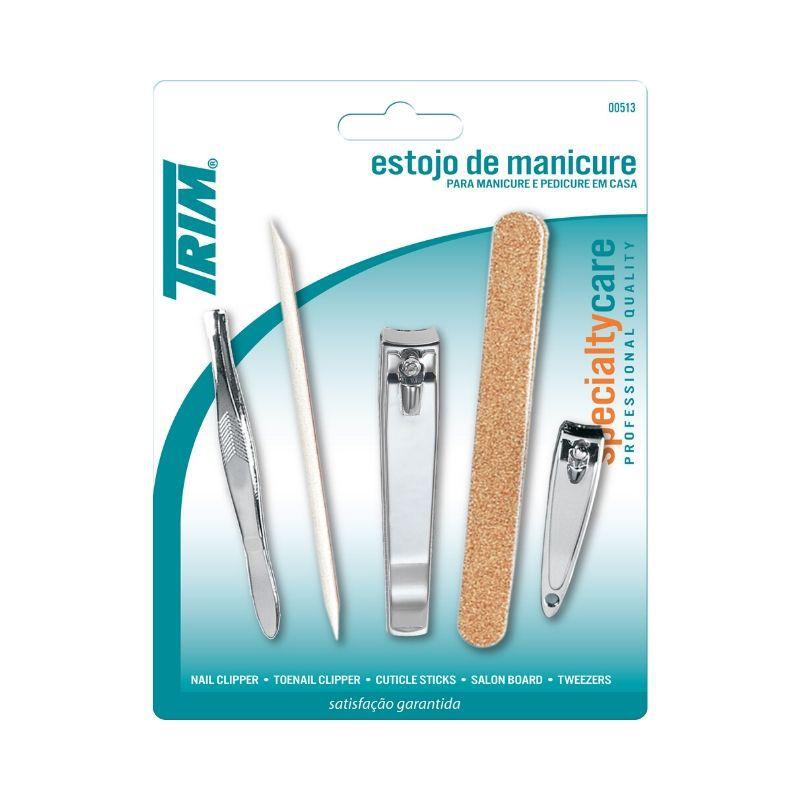 Kit Trim Manicure Família (Estojo de manicure, Embalagem Blister)