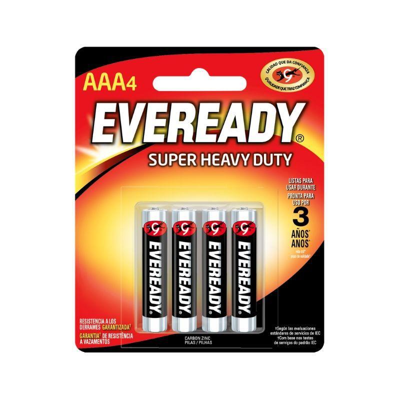 Pilha Eveready Palito AAA4 1x4 ( Zinco Carvão, Voltagem 1,5V )