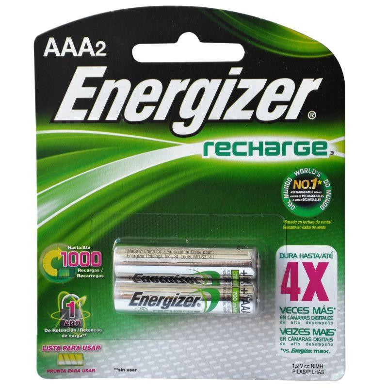 Pilha Energizer Recarregável Palito AAA2 ( Níquel Metal Hidreto )