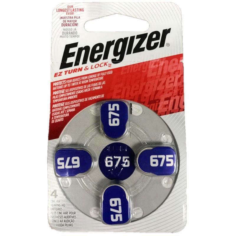 Pilha Energizer Audiológica 675 1x4 (Bateria Facilmente Removível)