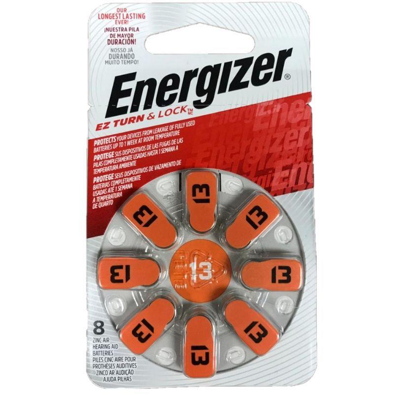 Pilha Energizer Audiológica 13 1x8 (Bateria Facilmente Removível)