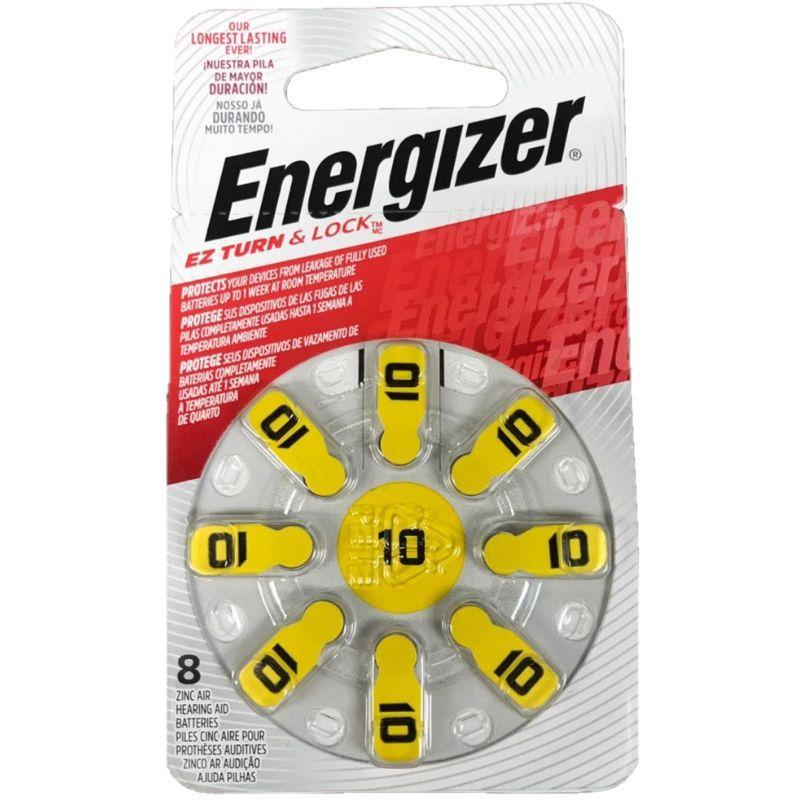Pilha Energizer Audiológica 10 1x8 (Bateria Facilmente Removível)