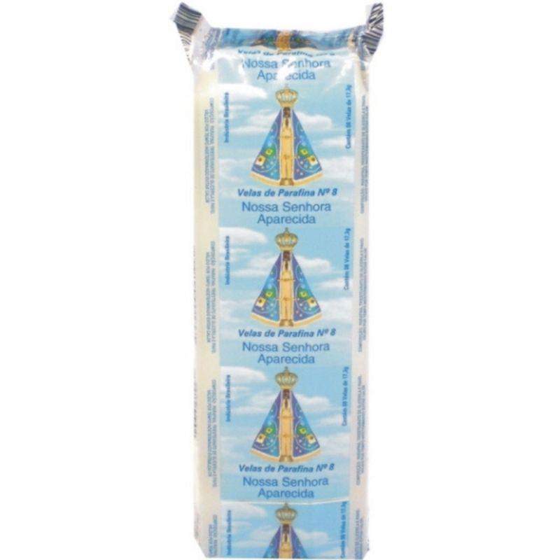 Vela Nossa Senhora Aparecida N.8 ( Contém 8 velas de 17,3gramas )