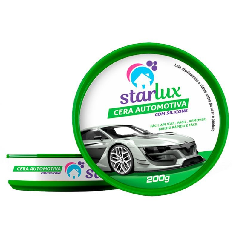 Cera Automotiva Starlux 200g (Protege contra Calor, Chuva, Poeira)