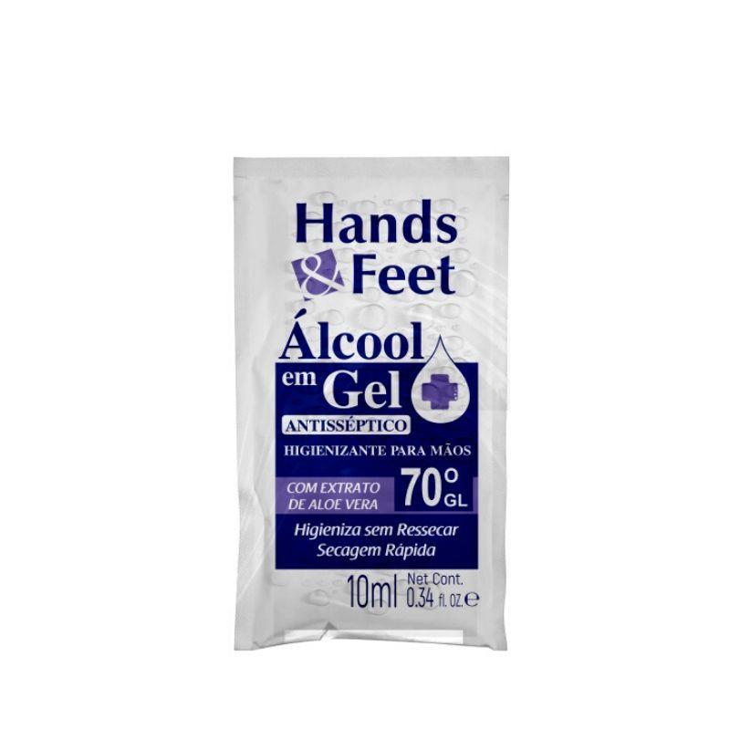 Alcool Em Gel Sachê Higienizante Mãos 10ml - Linha Hands And Feet