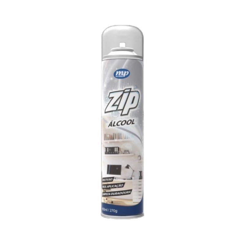 Álcool Spray Antisséptico Multiuso Zip 400ml 54% - Linha My Place