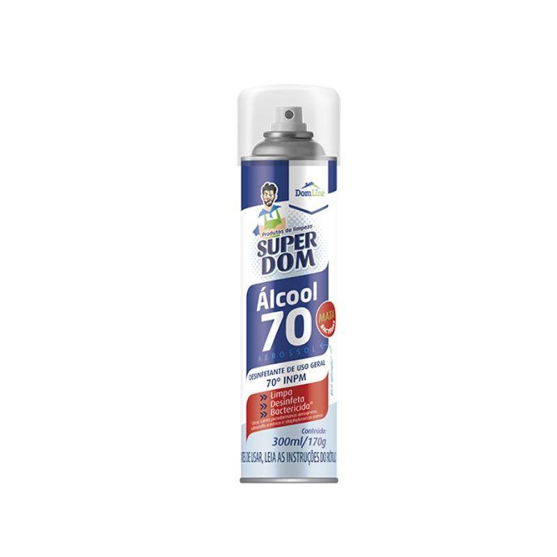Álcool Aerossol 70% Definfetante Uso Geral  300ml - Linha Super Dom