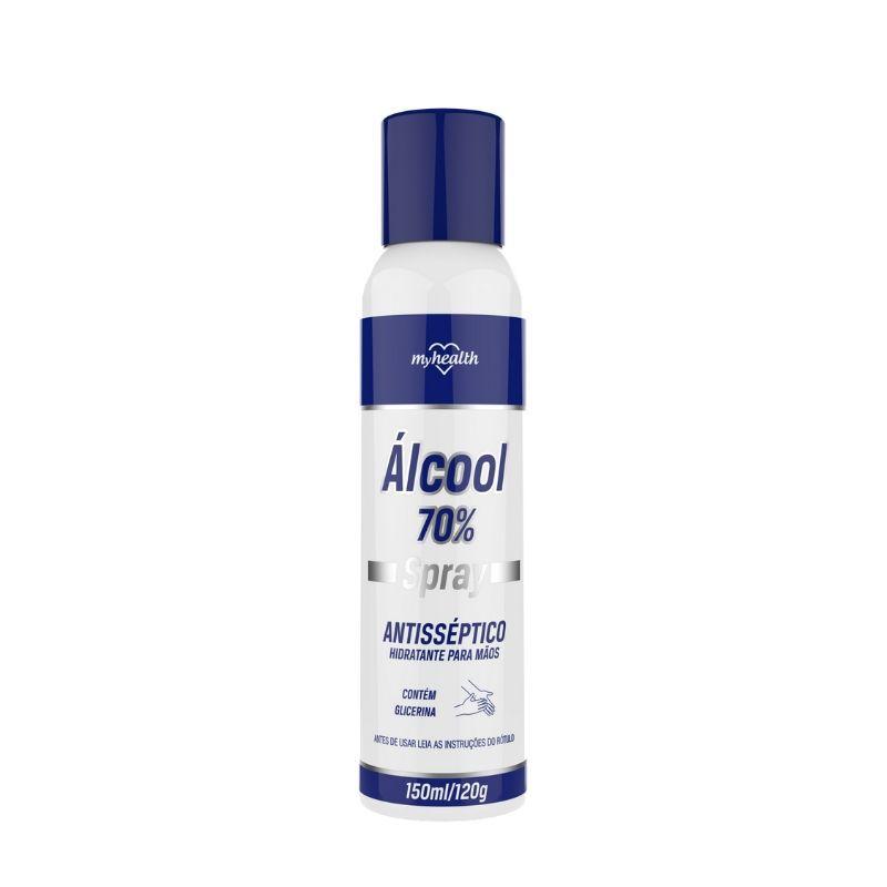 Alcool Spray Antisseptico Hidratante para Maos 150ml (Álcool 70%)