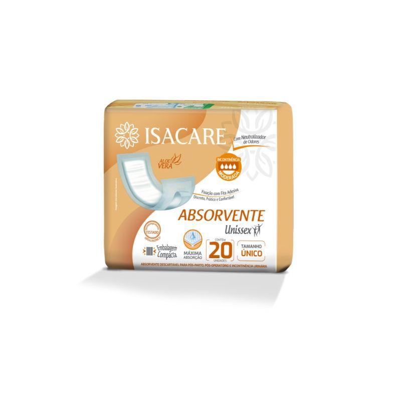 Absorvente Isacare Adulto (Com Neutralizador de Odores e Discreto)