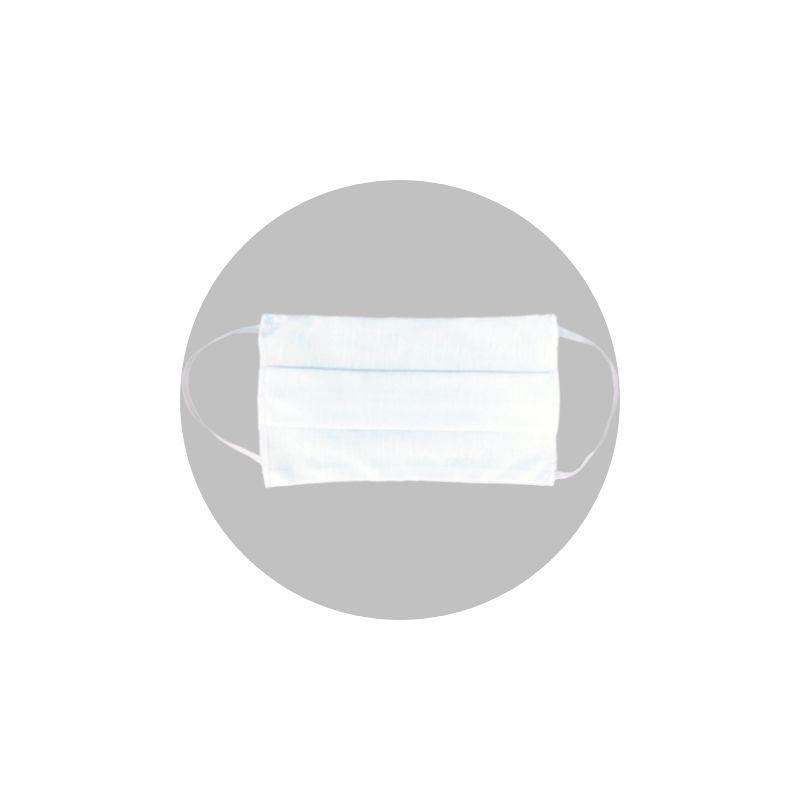 Máscara de Proteção Lavável UZ3 Branca 3X1(Dupla Camada de Algodão)