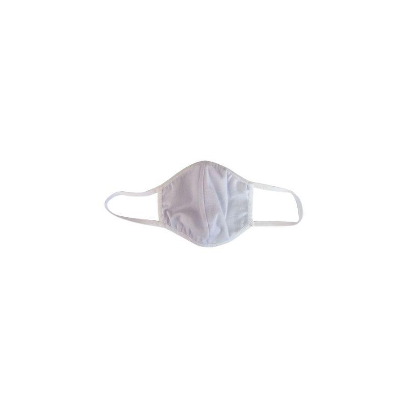 Máscara Tecido Duplo Reutilizável Branco Difer 5X1 ( 96% Algodão )