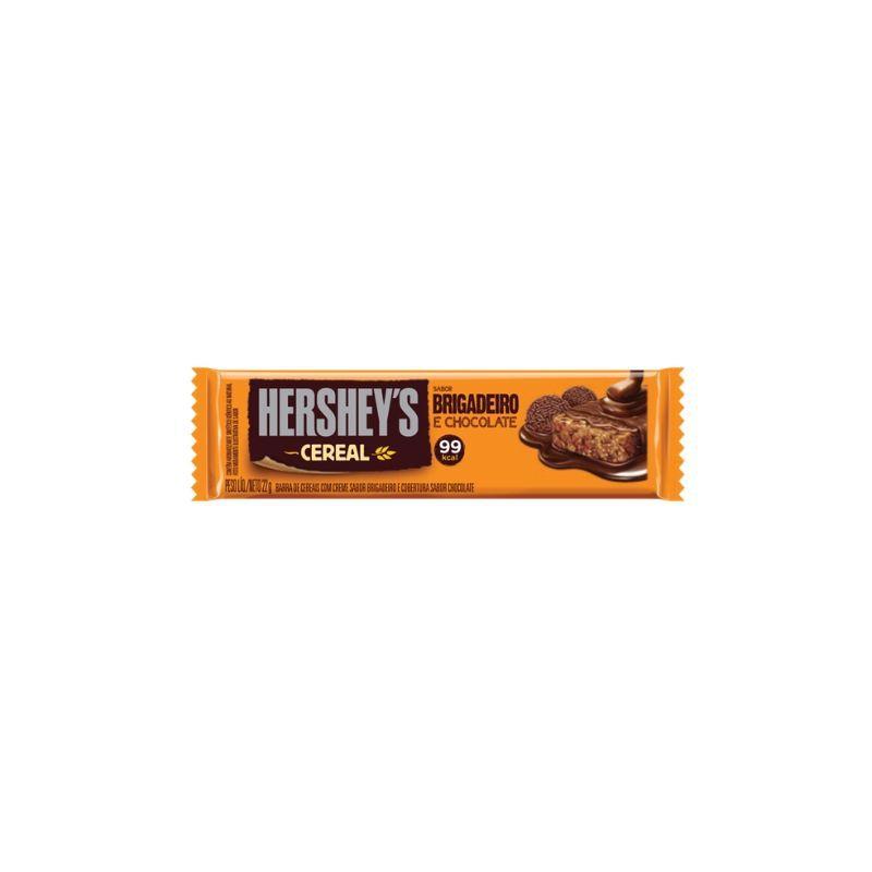 Barra de Cereal Hersheys Brigadeiro e Chocolate 22g (99 Calorias)