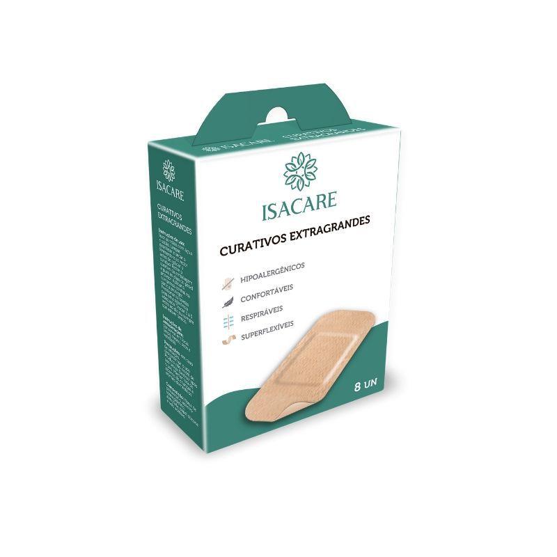 Curativo Isacare Extra Grande 8 unidades (Proteção de Ferimentos)