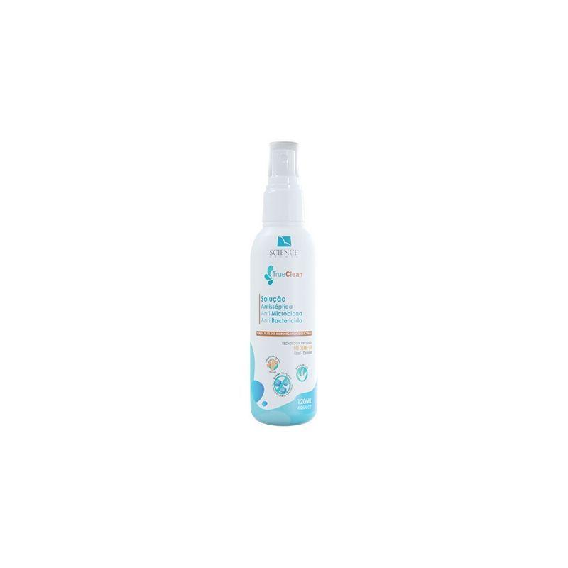 Solução Antisséptica Spray True Clean Science 120ml Anti Microbiana