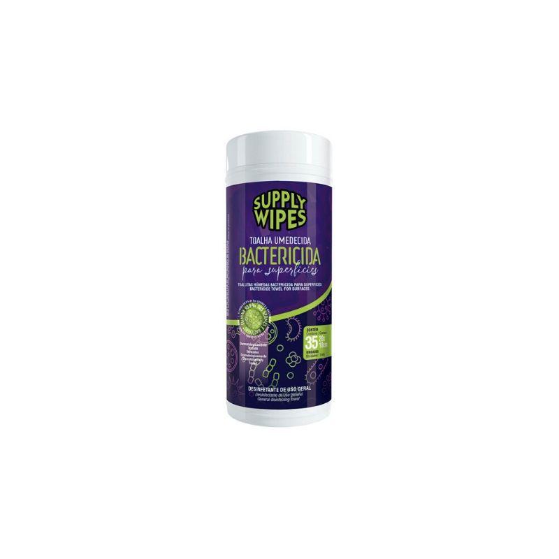 Lenço Umedecido Antisséptico Supply Wipes Bactericidas 35 Unidades