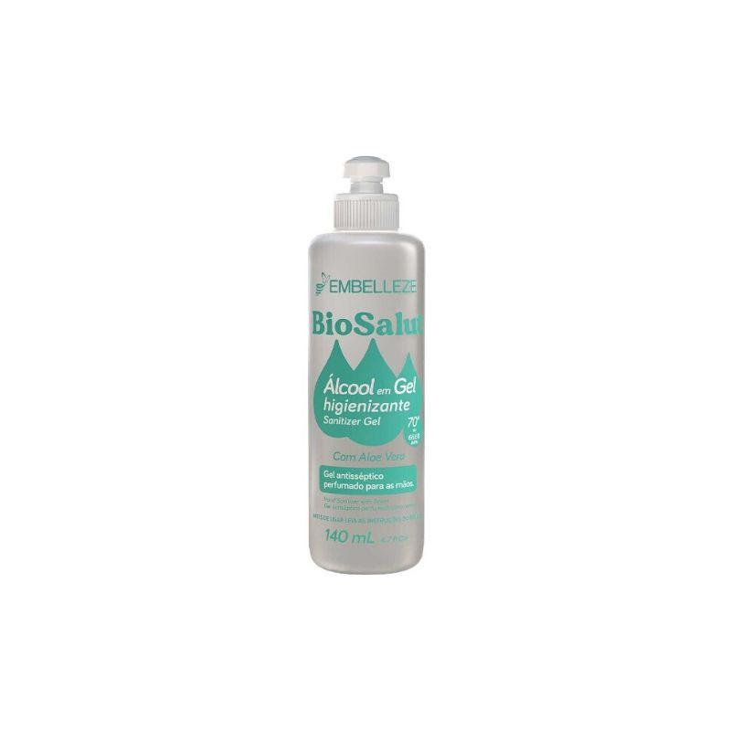 Álcool Gel Antisséptico 70% Embelleze Biosalut 140ml Com Aloe Vera