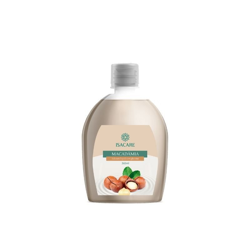 Sabonete Líquido Isacare Macadâmia 365ml (Pele Hidratada e Sedosa)