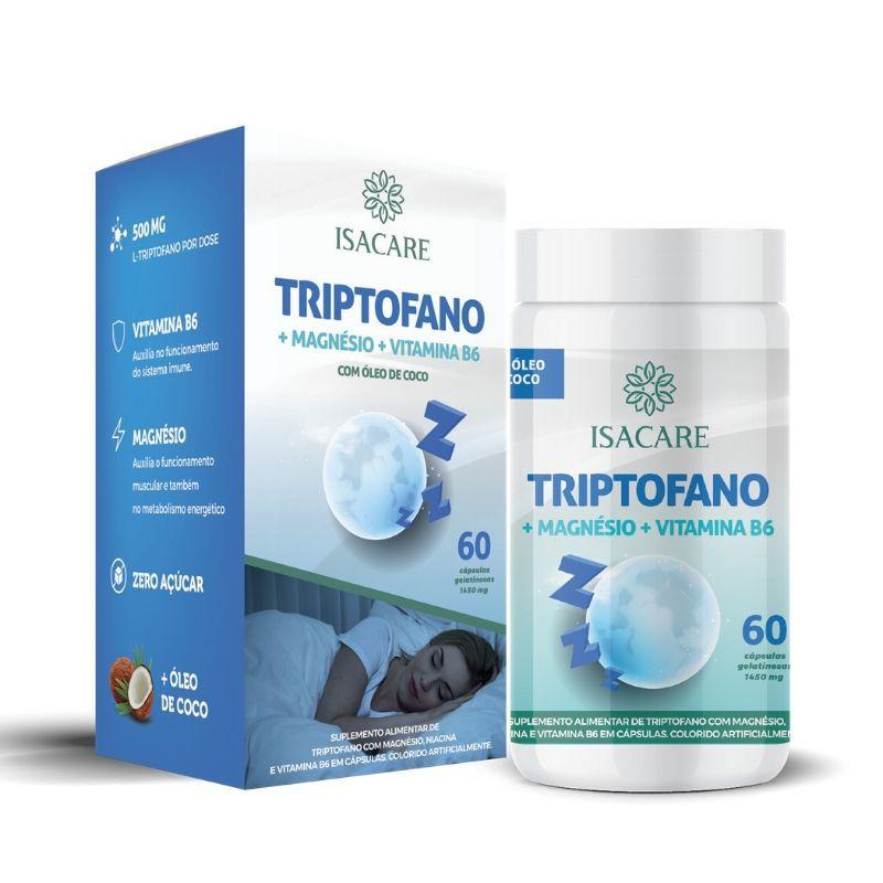 Vitamina B6 + Triptofano + Magnésio 60 Cápsulas  - Linha Isacare