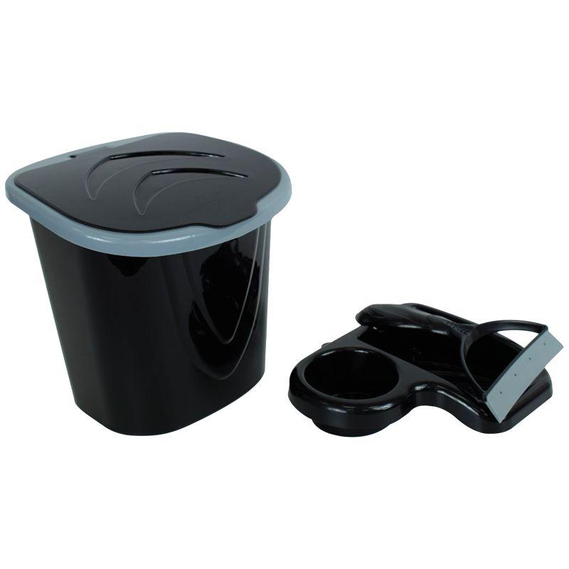 Kit Lixeira + Porta Detergente + Rodinho (Junta Design e Elegância)