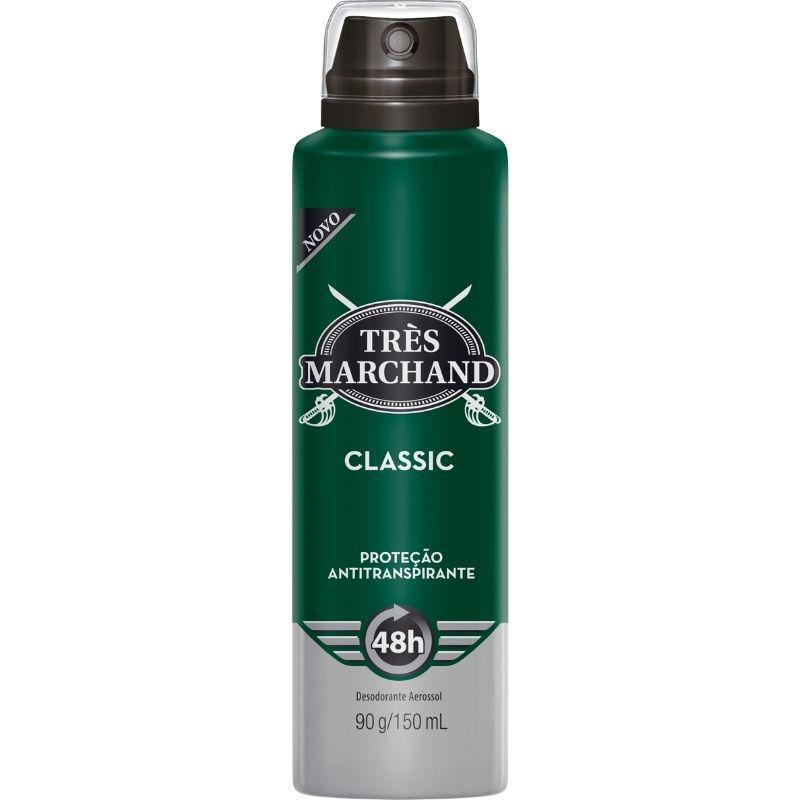 Desodorante Aerosol Tres Marchand Classic 150 ML (48h de Proteção)