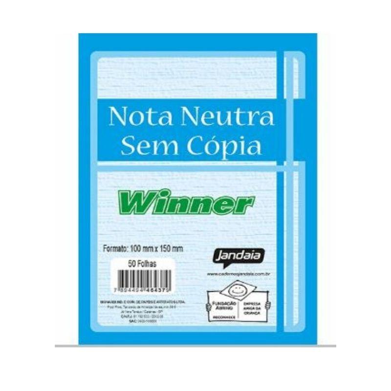 Talão  Para  Nota Neutra  100MMX150MM Qualidade  -  Linha Winner