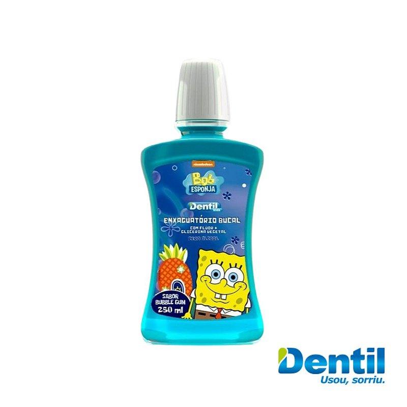 Enxaguante Bucal Dentil 250 ML Kids Zero Álcool Bob Sponja