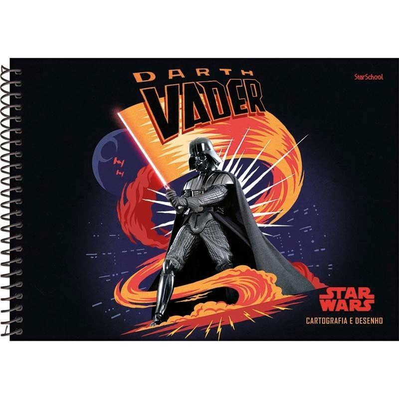 Caderno Disney StarWars Espiral Cartografia 80 Folhas –StarSchool