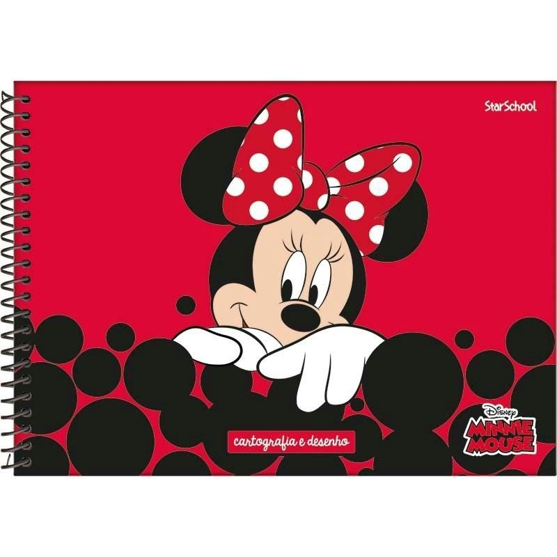 Caderno Disney Minnie Espiral Cartografia 80 Folhas –  StarSchool