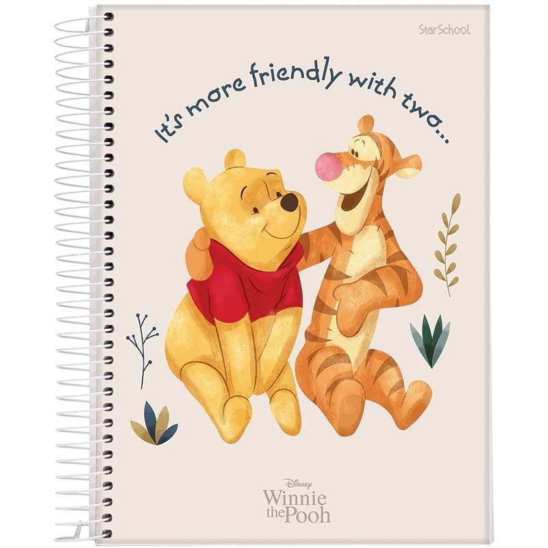 Caderno Universitário Disney Pooh 1 Matéria 80 Folhas – StarSchool