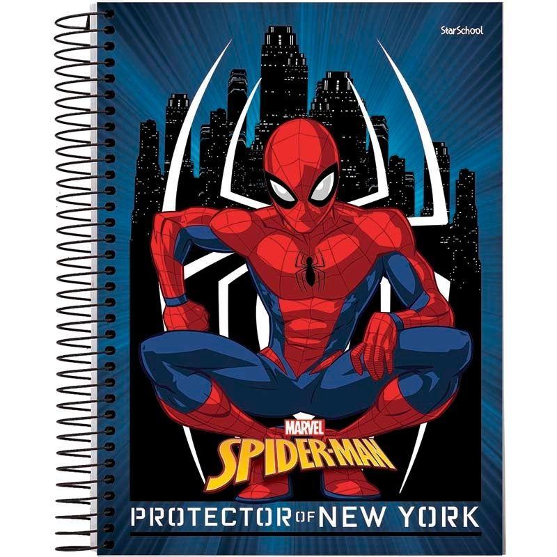 Caderno Universitário Disney Spider 1 Matéria 80 Folhas –StarSchool