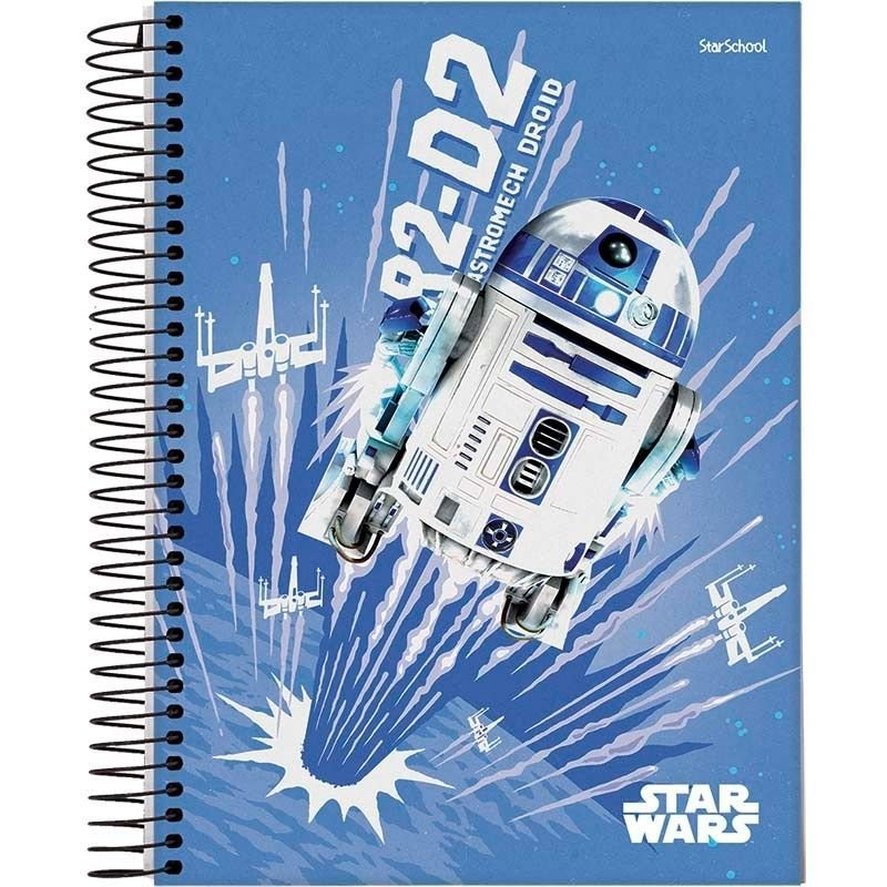 Caderno Disney Star Wars Espiral Capa Dura 80 Folhas – StarSchool