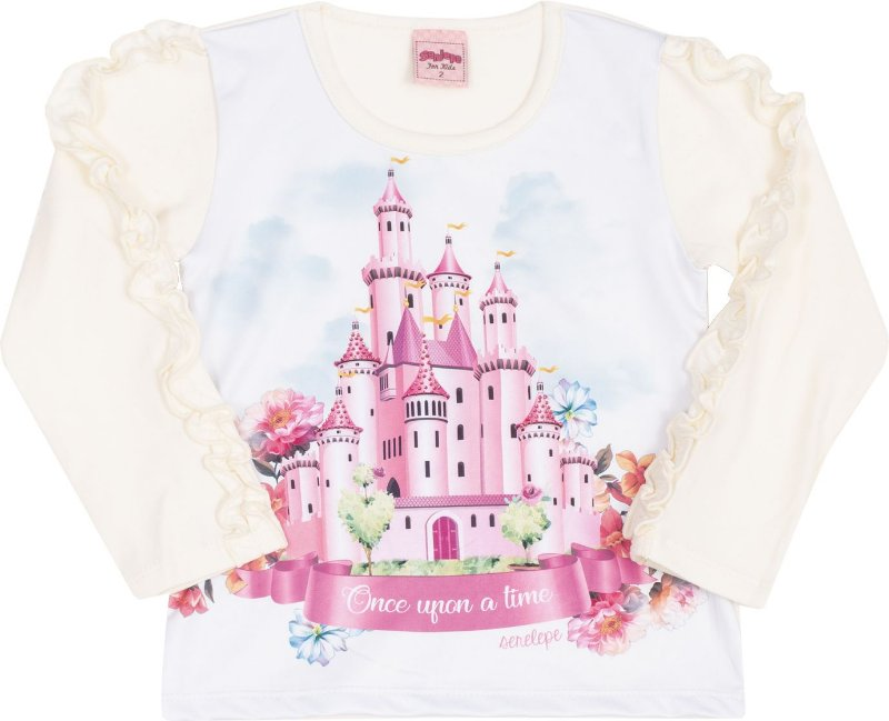 Blusa Avulsa Castelo Off White - Serelepe Kids
