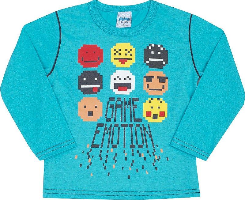 Camiseta Avulsa Game Edition Azul - Serelepe Kids