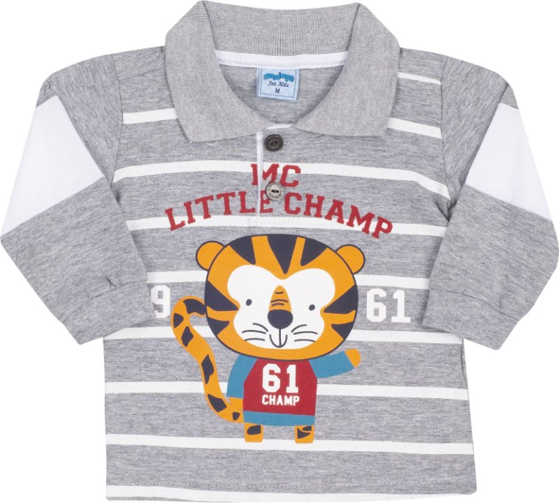 Camisa Avulsa Gola Polo Tigre Mescla - Serelepe Kids