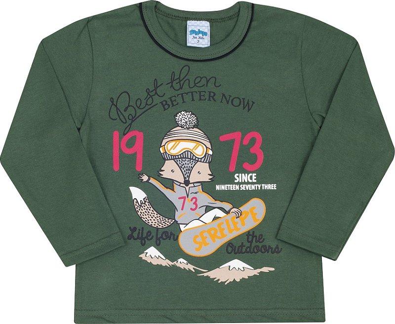 Camiseta Avulsa 1973 Verde - Serelepe Kids