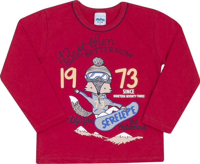 Camiseta Avulsa 1973 Vermelho - Serelepe Kids