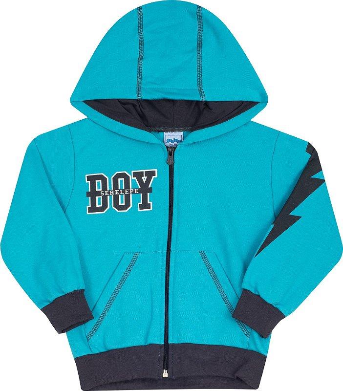 Conjunto Com Capuz Boy Verde - Serelepe Kids