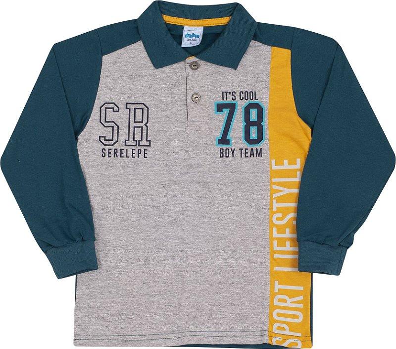 Camisa Polo Avulsa Sport LifeStyle Mescla - Serelepe Kids