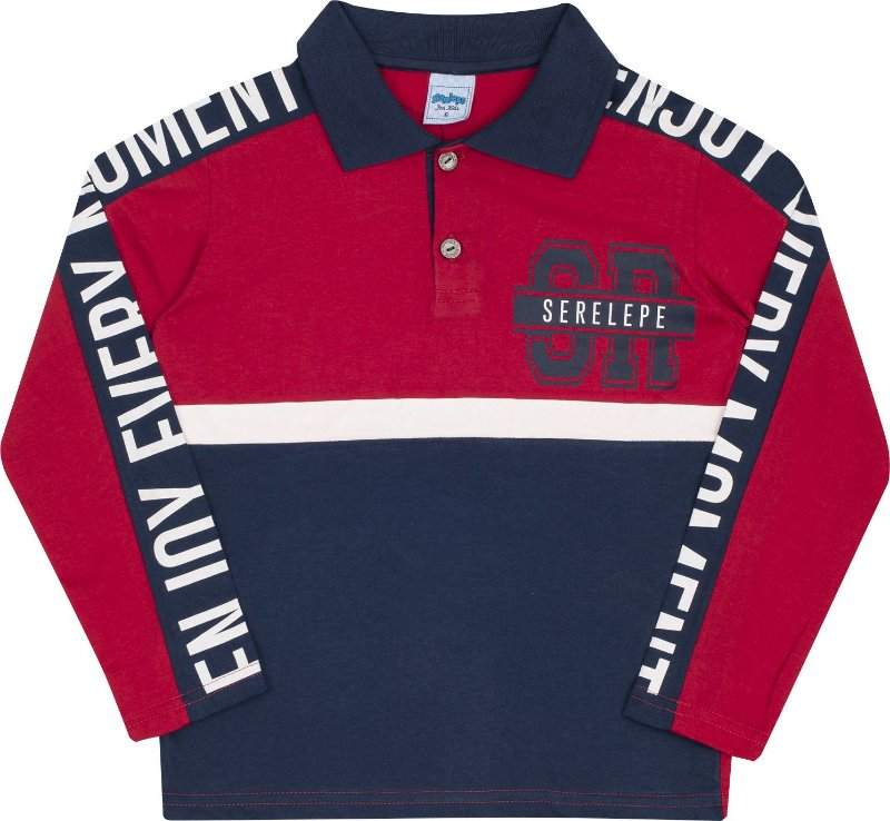 Camiseta Polo Avulso Serelepe Vermelho - Serelepe Kids