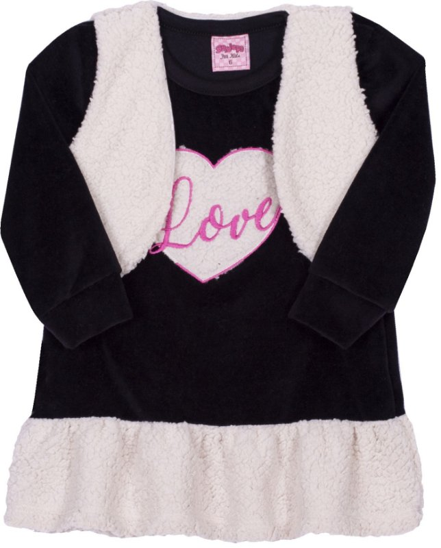 Vestido Love Preto - Serelepe Kids
