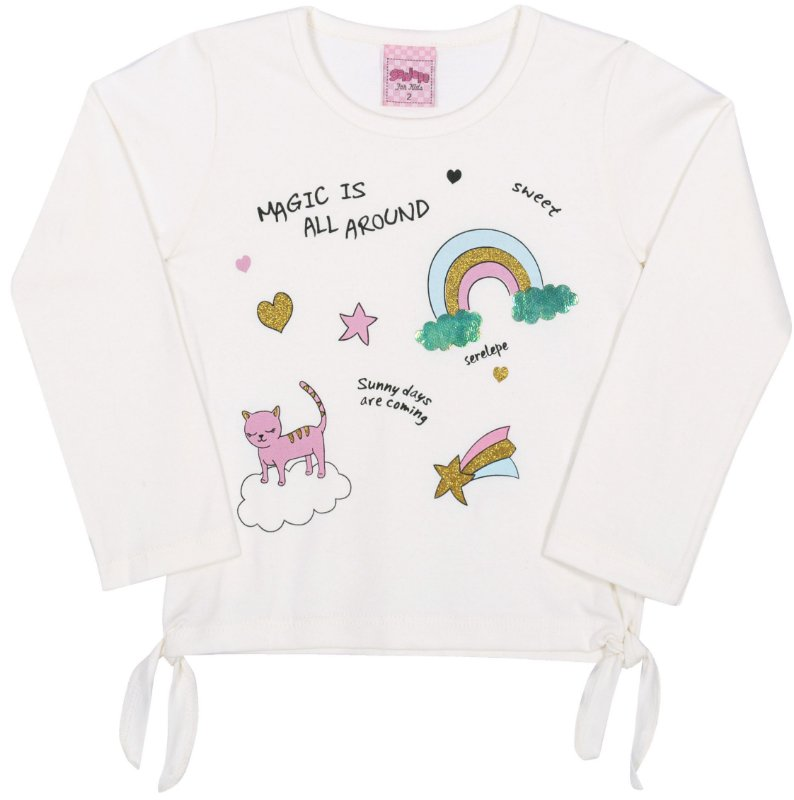 Blusa Avulsa Magic Off White - Serelepe Kids