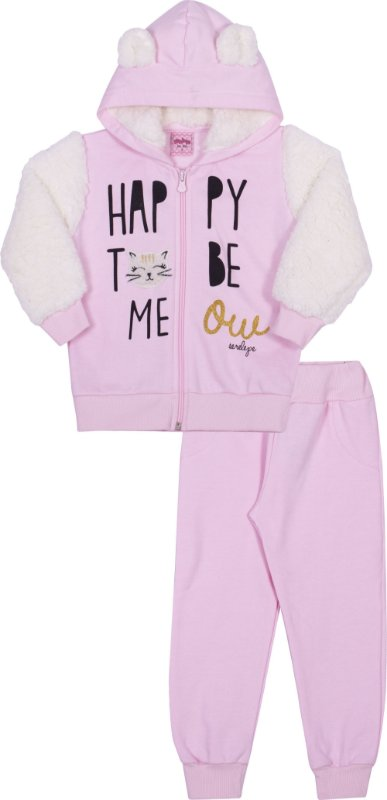 Conjunto em Moletom Happy Pétala - Serelepe Kids