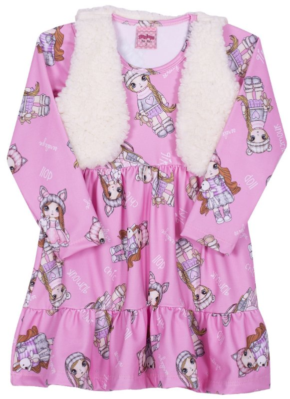 Vestido com Colete Begonia - Serelepe Kids