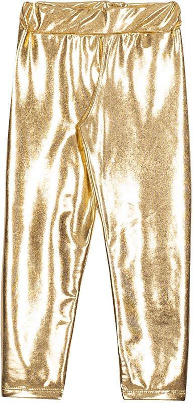 Calça em Cirrê Metalizado Dourado - Serelepe Kids
