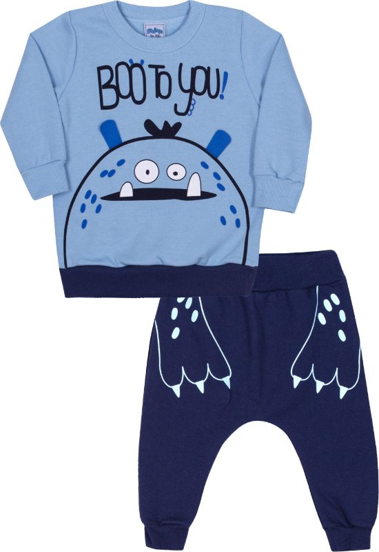 Conjunto Bebê Boo To You Céu - Serelepe Kids